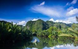 Pute flod i Indonesien Royaltyfria Bilder