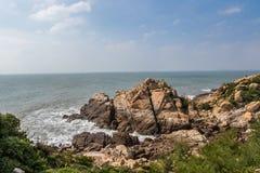Putian Meizhou wyspy sceneria Zdjęcia Royalty Free
