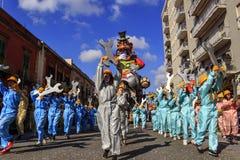 Putignano, Pouilles, Italie - 15 février 2015 : flotteurs de carnaval Tour de carnaval : flotteur allégorique d'Ilva au carnaval  Photographie stock