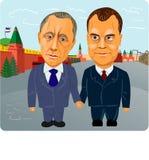Putin e Medvedev Fotografia de Stock Royalty Free