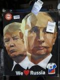 Putin och trumf Fotografering för Bildbyråer