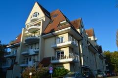 Putkapelstraat街道的典型的房子位于跟特, 2017年11月5日的比利时 免版税库存照片