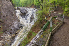 Putna Fall in Lepsa in Vrancea County, Romania Royalty Free Stock Photography