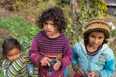 PUTNA, INDIA - JAN 03: Unidentified indian children on January 0 Royalty Free Stock Photo