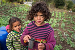 PUTNA, INDIA - JAN 03: Unidentified indian children on January 0 Royalty Free Stock Photos