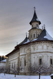 Putna Monastery. In Romania during winter royalty free stock photo