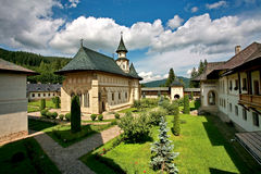 Putna monastery. The Putna monastery in summer royalty free stock photography