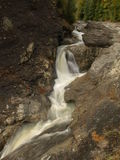 Putna Waterfall. A place where water flows over a vertical drop in the course of a stream or river. This is photographed in an autumn day in Vrancea, Carpathian Royalty Free Stock Photos