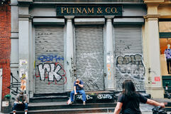 Putnam & Co , 32 Howard St, de Stad van New York Royalty-vrije Stock Foto