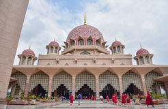 Putra清真寺Masjid Putra 免版税库存图片