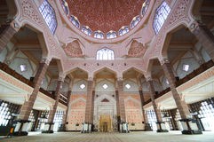 Putra Jaya Mosque Royalty-vrije Stock Afbeelding