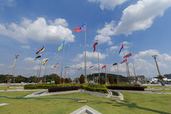 Putra Jaya Square Flags Photos libres de droits