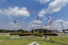 Putra Jaya Square Flags Photos libres de droits