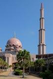 Putra meczet jest głównym meczetem Putrajaya (Masjid Putra) Zdjęcie Royalty Free