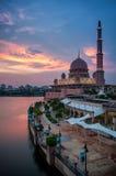 Putra meczet podczas zmierzchu Obraz Stock