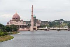Putra-Moschee, Perdana Putra und Dataran Putra in Putrajaya Stockbild