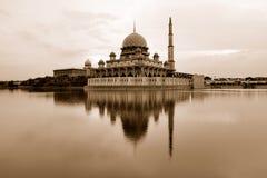 Putra-Moschee, Putra Jaya Stockbild