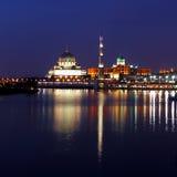 Putra-Moschee u. Perdana Putra Stockfotografie