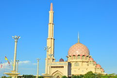 Putra mosque. Is one of the main landmark of Putrajaya , the governmental city of Malaysia. It is built based on Morroco architechture and a centre of tourist Stock Photography