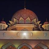 Putra Mosque. Putrajaya Malaysia in the night Stock Image