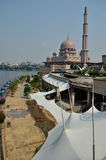 Putra Mosque. In Putrajaya, Malaysia Royalty Free Stock Images