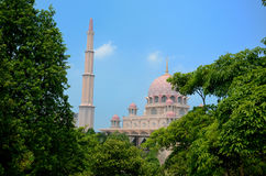 Putra Mosque. In Putrajaya, Malaysia Stock Images