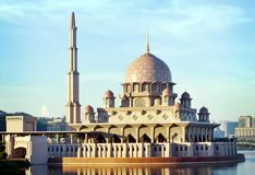 Putra Mosque. Malaysia's landmark Putra Mosque in Putrajaya royalty free stock photography