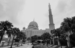 Putra Mosque at downtown in Putrajaya, Malaysia. Putrajaya, Malaysia - Jul 7, 2015. View of Putra Mosque at downtown in Putrajaya, Malaysia. The mosque is one of Royalty Free Stock Photography