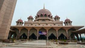 Putra Mosque at downtown in Putrajaya, Malaysia. Putrajaya, Malaysia - Jul 7, 2015. Putra Mosque at downtown in Putrajaya, Malaysia. The mosque is one of the Royalty Free Stock Photo