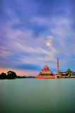 Putra mosque during gloomy day Royalty Free Stock Photo