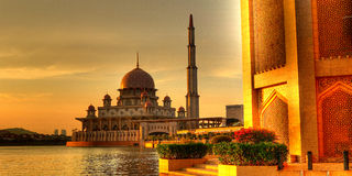 Putra Mosque HDR Stock Images