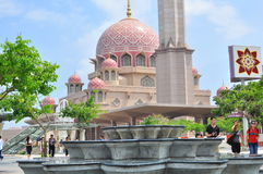 The putra mosque by the lake side. The Putra mosque in Putrajaya , Malaysia Stock Images