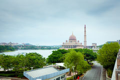 Putra Mosque located in Putrajaya city, Malaysia Stock Image