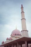 Putra Mosque located in Putrajaya city, Malaysia Royalty Free Stock Photos