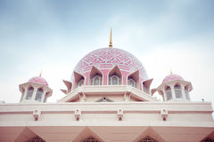 Putra Mosque located in Putrajaya city, Malaysia Stock Photo