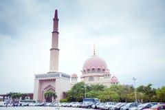 Putra Mosque located in Putrajaya city, Malaysia Stock Photos