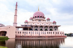 Putra Mosque located in Putrajaya city. Royalty Free Stock Images