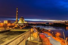 Putra Mosque, malaysia during sunset royalty free stock images
