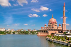 Putra mosque. The Putra Mosque, or Masjid Putra in Malay language, is the principal mosque of Putrajaya, Malaysia  Construction of the mosque began in 1997 and Stock Photo