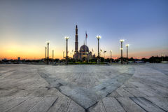 The Putra Mosque. Or Masjid Putra in Malay language, is the principal mosque of Putrajaya, Malaysia. Construction of the mosque began in 1997 and was completed Stock Image