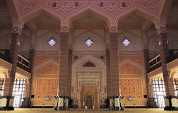 Putra Mosque Moorish Interior Architecture Royalty Free Stock Photography