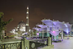 Putra Mosque at Night Stock Photography