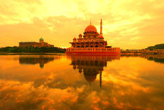 Putra Mosque and Perdana Putra, Putra Jaya Royalty Free Stock Photo