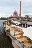 Putra Mosque and promenade in  Putrajaya Stock Photography