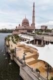 Putra Mosque and promenade in  Putrajaya Stock Photography