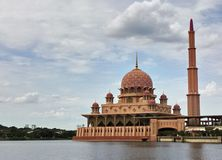 Putra Mosque. In Putrajaya on the lake Stock Images