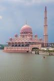 Putra Mosque, Putrajaya, Malaysia. Beautiful pink Putra Mosque in the daylight, Putrajaya, Malaysia Stock Images