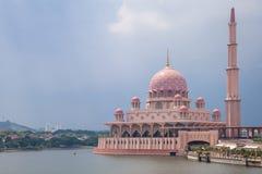 Putra Mosque, Putrajaya, Malaysia. Beautiful pink Putra Mosque in the daylight, Putrajaya, Malaysia Stock Photos