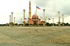 Putra Mosque of Putrajaya, Malaysia Royalty Free Stock Photo