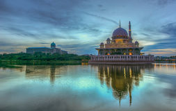 Putra Mosque, Putrajaya, Malaysia in HDR Stock Image